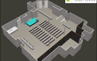 EXDO Classroom Style Educational Event Layout