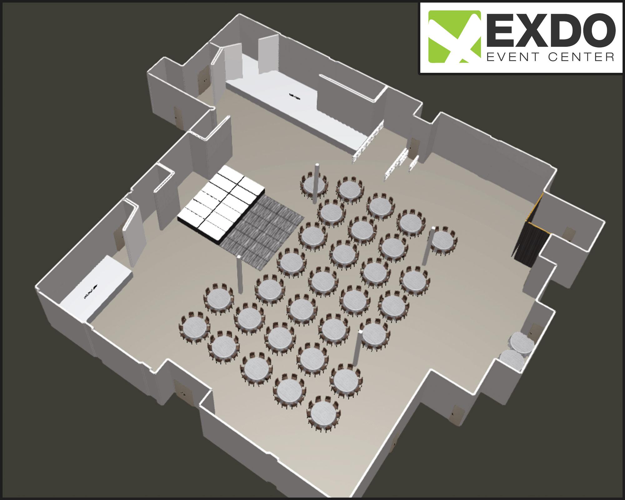 Sample Floor Plan Showcase Exdo Event Center Denver