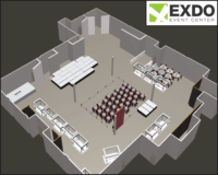 EXDO Theme Party with VIP Areas Layout
