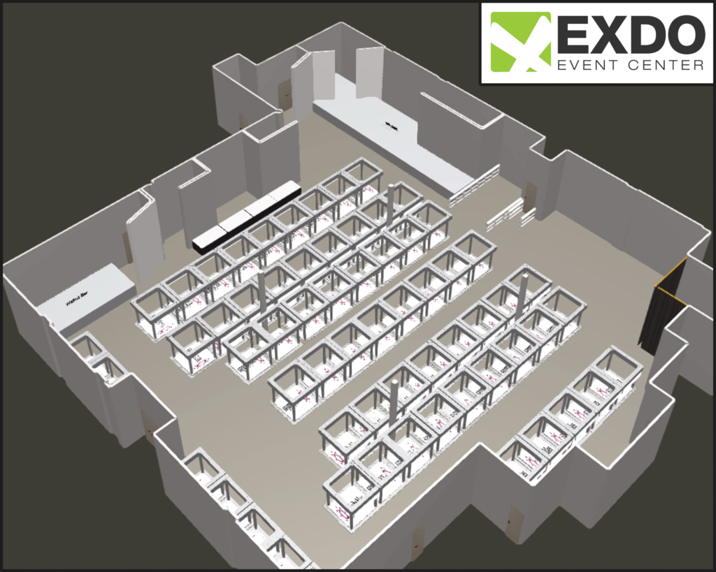 Home exdo event center denver for Trade show floor plan design